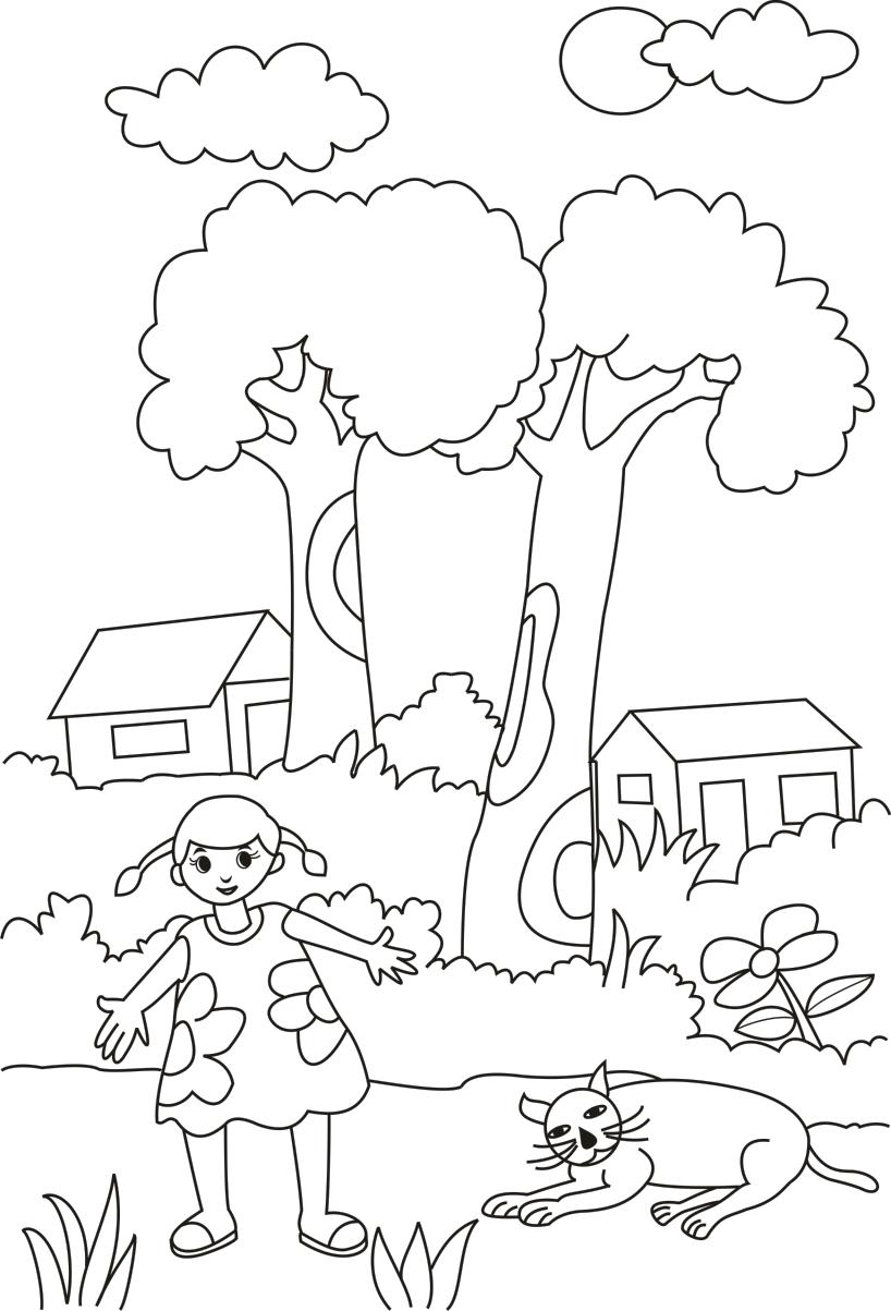 Sketsa Gambar Anak Sd