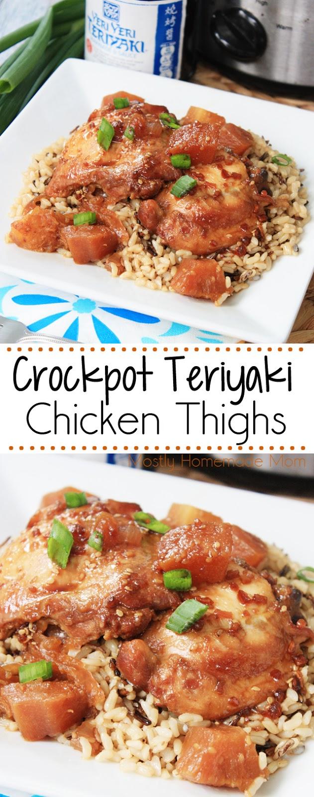 Slow Cooker Teriyaki Chicken Thighs
