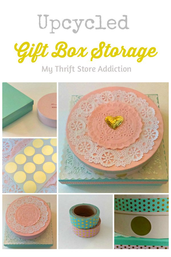Upcycled gift box storage