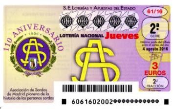 loteria nacional jueves 4 agosto 2016