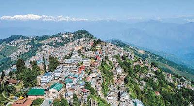 Darjeeling town view