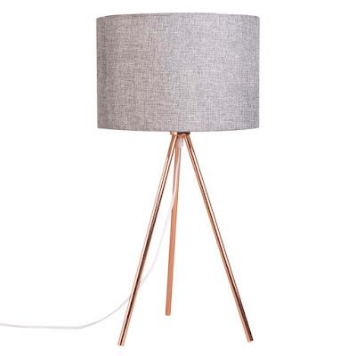 lampe-en-metal-cuivre-et-abat-jour-gris-chine alt deco
