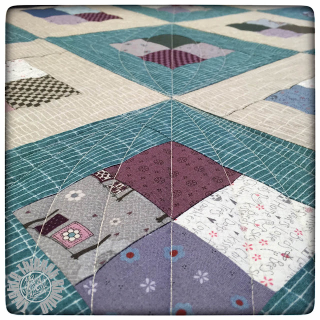 Four Patch Squared Quilt by Thistle Thicket Studio. www.thistlethicketstudio.com