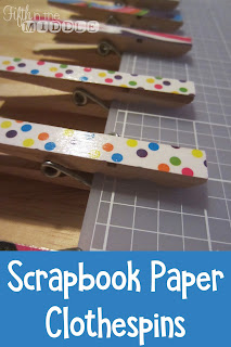 Use scrapbook paper and Mod Podge to dress up your classroom clothespins