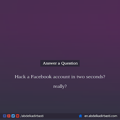 Hack a Facebook account in two seconds