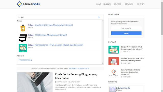 Cara Membuat Kotak Pencarian Blogger