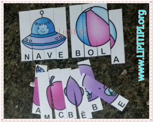 30 Quebra- cabeças de palavras dissílabas para imprimir