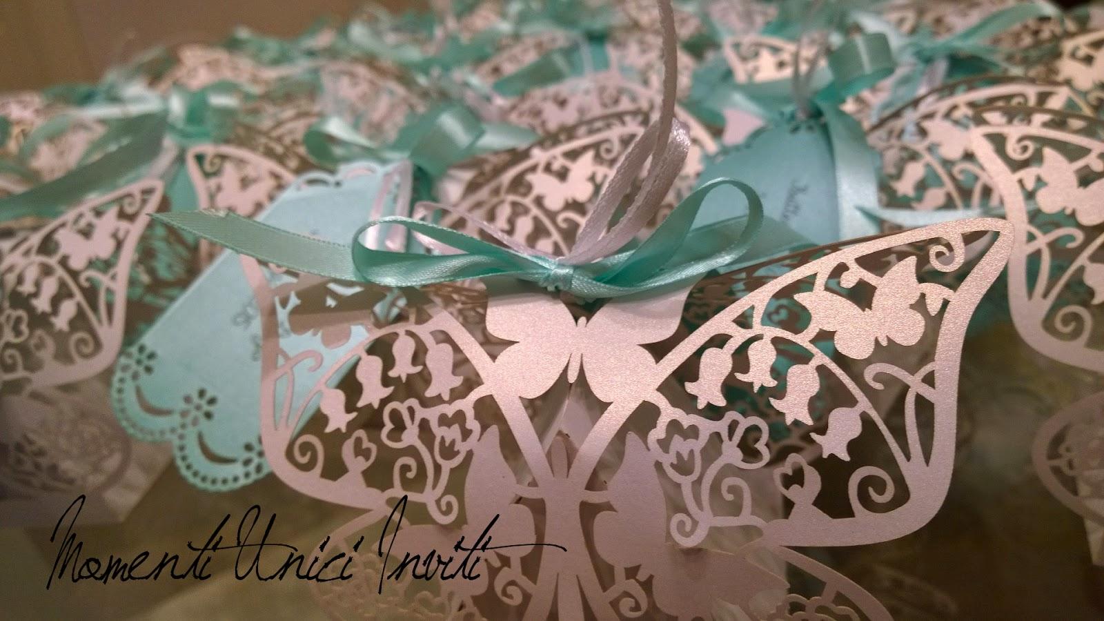 d11 Le scatoline portaconfetti per il Battesimo del piccolo DiegoColore Bianco Colore Tiffany