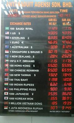 Exchange Rates At Ampang Park Money Changer