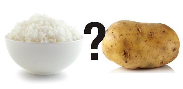 Cara Sehat Konsumsi Nasi, Kentang dan Pisang