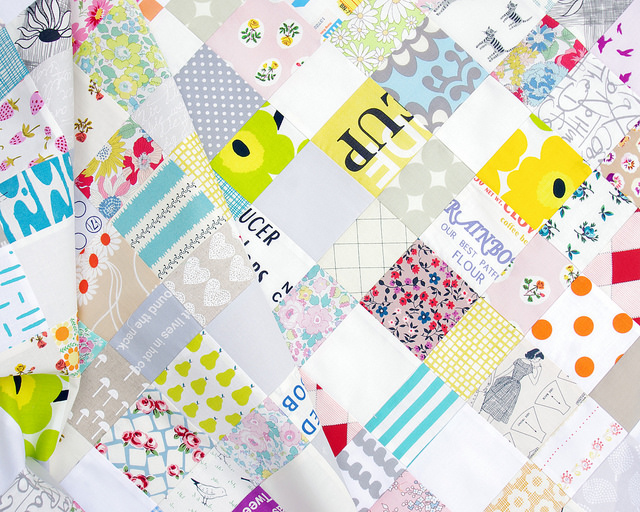 A Scrap Buster Baby Quilt | Work in Progress | Red Pepper Quilts 2015