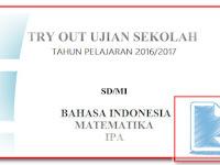 Download Soal Try Out Ujian Sekolah UN SD/MI Tahun 2017 gratis