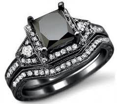 Black Diamond Wedding Bands For Her