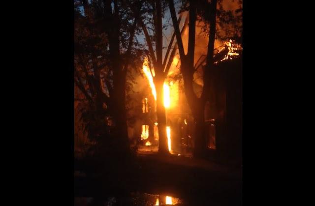 В Уфе сгорел барак, есть погибший:Видео