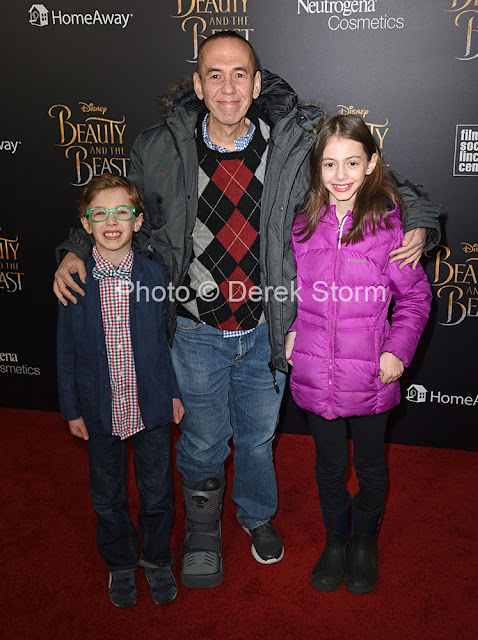 Gilbert Gottfried and children Max Aaron & Lily Astor Kate Tucci Children