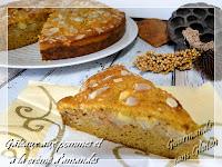 Gâteau aux pommes et à la crème d'amandes sans gluten