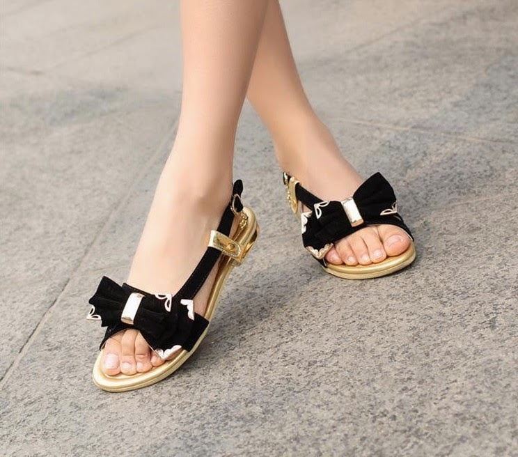 8f4d03d2b4ba9 Stylish Collection Of Flat Sandals For Girls From Summer Season 2014 ...