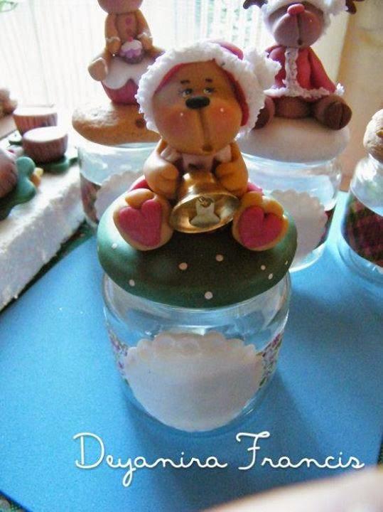Deyanira francis frascos decorados navide os for Frascos decorados para navidad