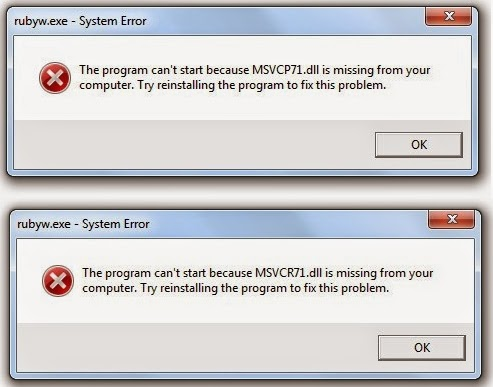 msvcp71.dll windows 7