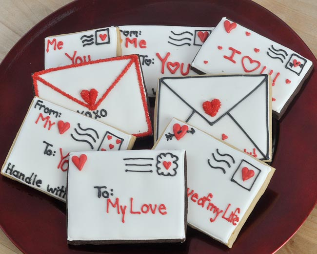 Beki Cook S Cake Blog Special Delivery Valentine S Day Cookies