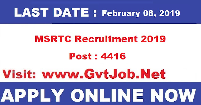 MSRTC Recruitment 2019 Know How to Apply
