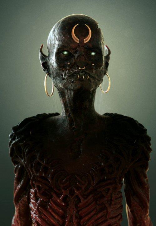 Maarten Verhoeven artstation arte modelos 3D escultura digital fantasia ficção científica terror sombrio