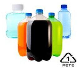 kode dan contoh plastik PET / PETE