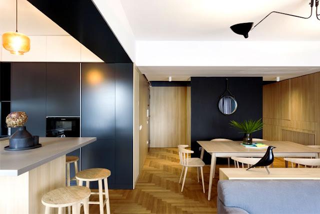 Дизайн-проекты. Минималистичный дизайн в небольшой городской квартире в Бухаресте