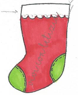 Cartamodello Calze della befana classica - classic christmas stocking