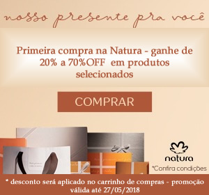 Promoção Natura - ganhe até 70% OFF