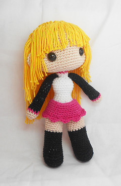Crochet amigurumi doll … | Kawaii crochet, Amigurumi doll, Anime ... | 370x240