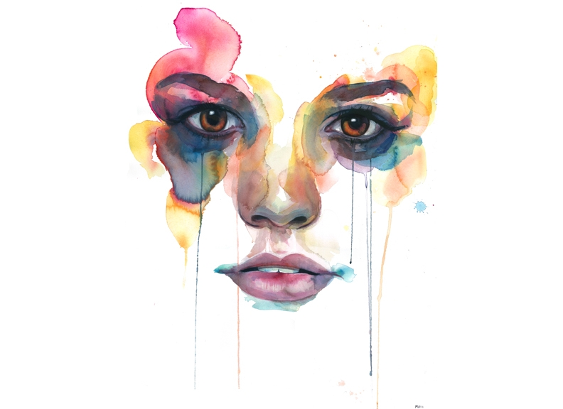 07-Marion-Bolognesi-Minimalist-Watercolor-Portraits-with-plenty-of-Expressions