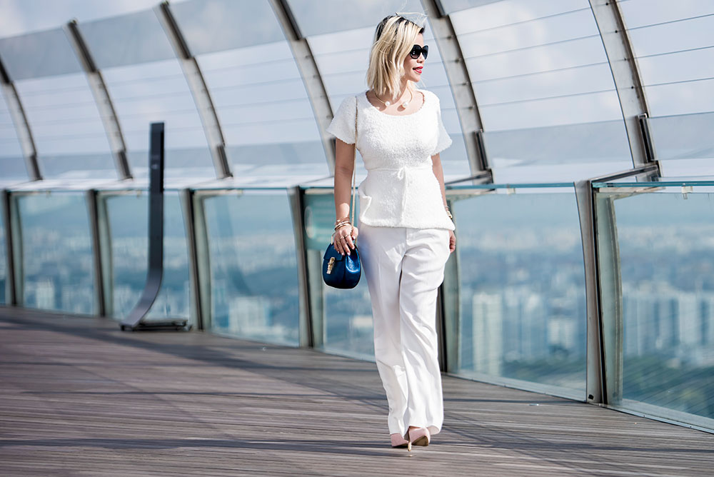 Crystal Phuong- Fashion Blogger: White on white outfit