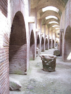 The interior of the Anfiteatro di Pozzuoli