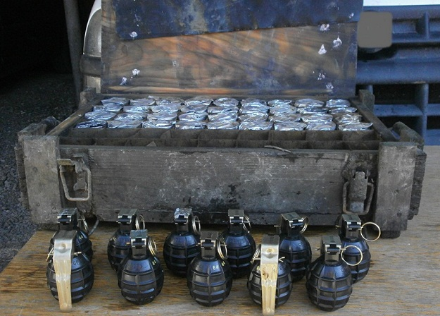 The M75 hand grenades