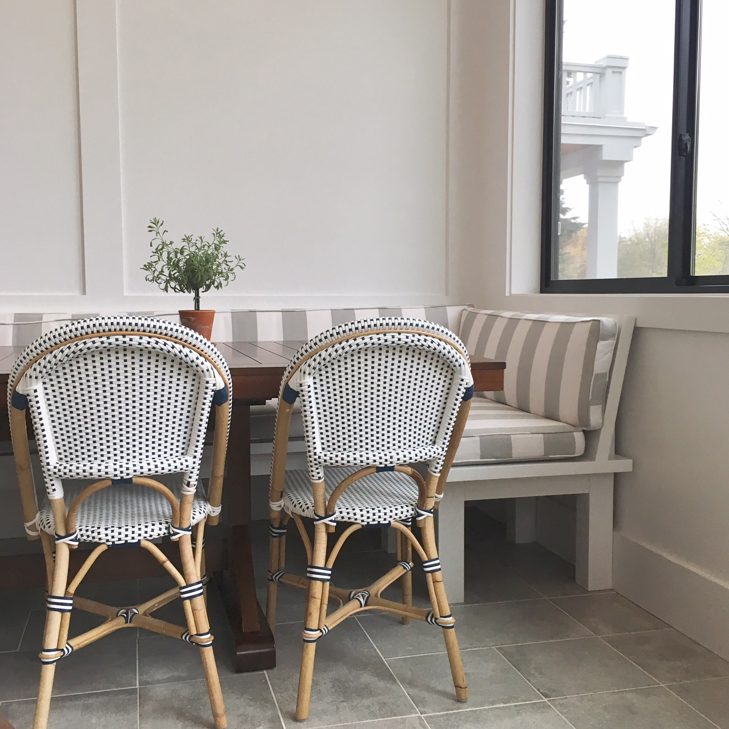 rivera chairs shown here wipe clean easily and are easy to move around when you need to add seating anywhere they come in many colors and styles now