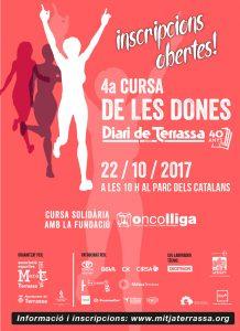 Esguard de Dona - Cursa de Dones Solidària contra el Càncer de Mama - Terrassa 22 d'octubre de 2017