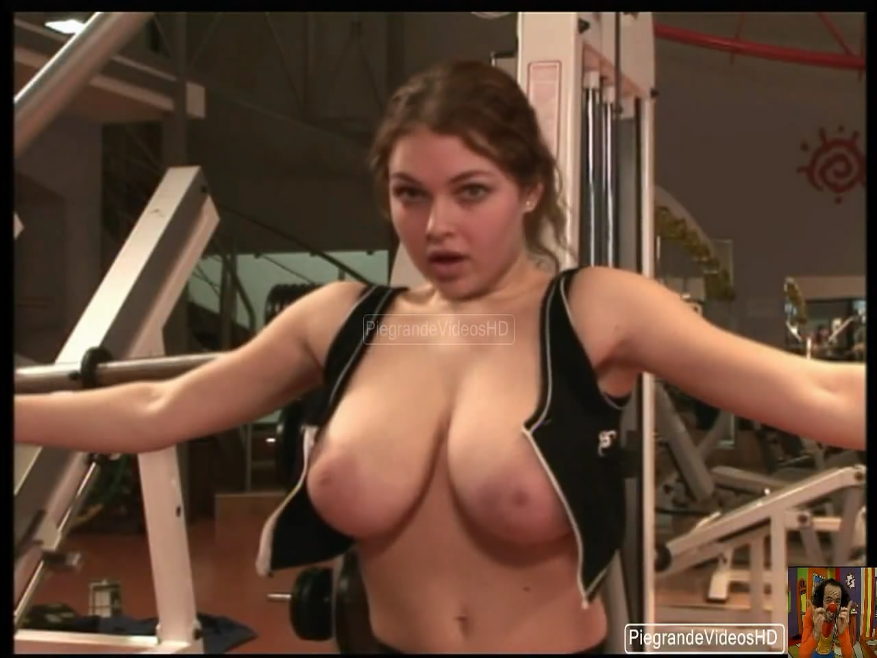 funny nude on the gym