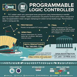 Lomba Programmable Logic Controller (PLC) Nasional 2019 Mahasiswa