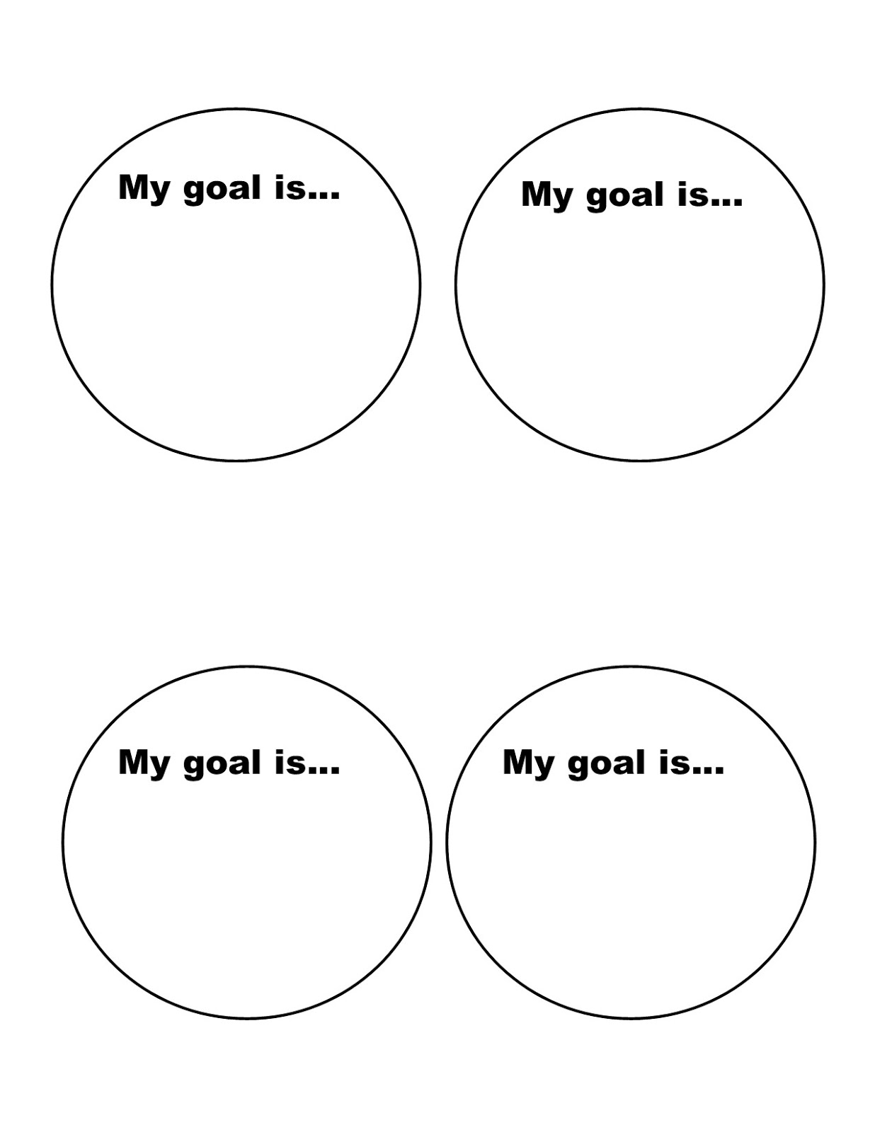 objective setting template - mini monets and mommies kids 39 goal setting art activity