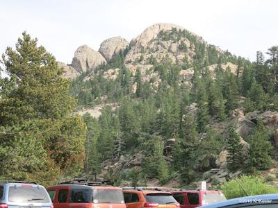 parking lot, Lily Lake, Rocky Mountain National Park
