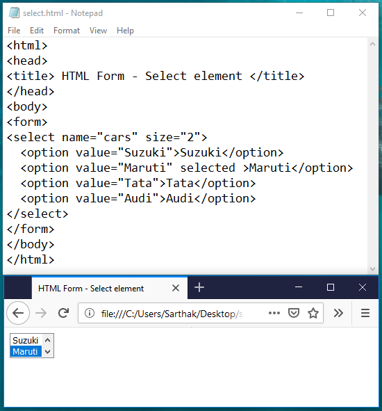HTML Form & its elements