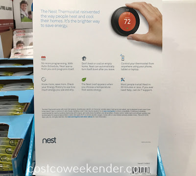 Costco 1140842 - Nest Learning Smart Thermostat: great for any home