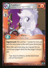My Little Pony Applejack, Holiday Spirit Defenders of Equestria CCG Card