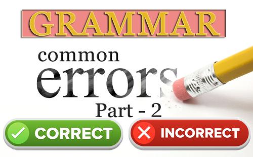 Grammar correct incorrect sentences
