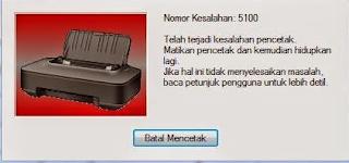 Cara Memperbaiki Error 5100 Pada Printer Canon IP 2770