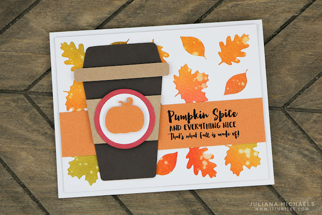 Pumpkin Spice Coffee Card by Juliana Michaels