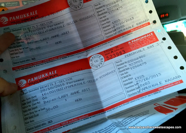 bus tickets to Selcuk