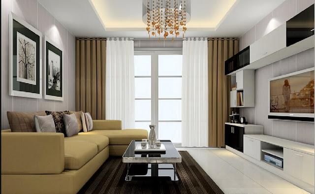motif plafon ruang tamu