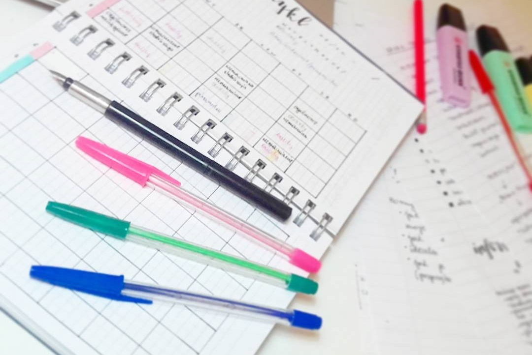 sposób na organizację bullet journal